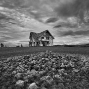 Abandoned house on a hill, Wairarapa